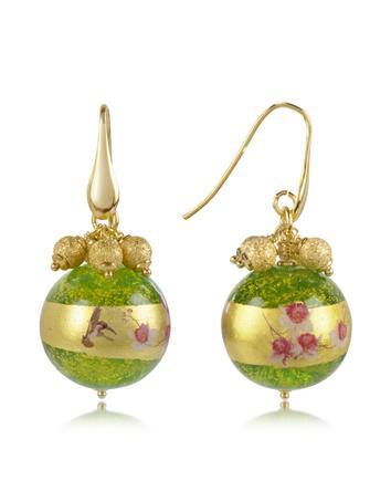 Forzieri Briciole d'Oro - Murano Glass Bead Earrings