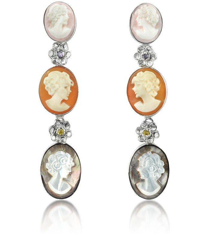 Cameo Drop Earrings - Mia & Beverly
