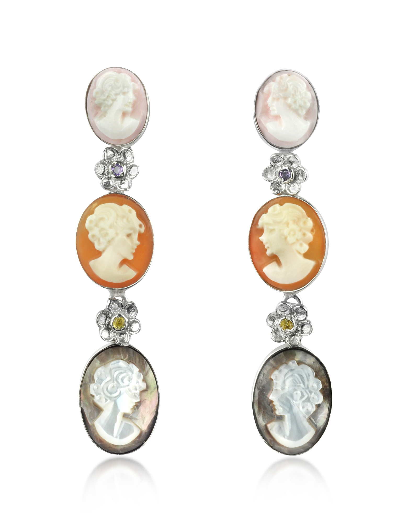 Mia & Beverly Cameo Drop Earrings
