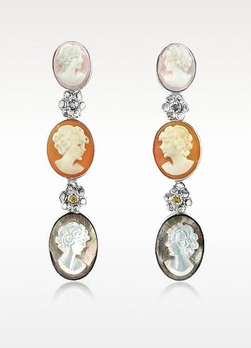Cameo Drop Earrings - Mia & Beverly