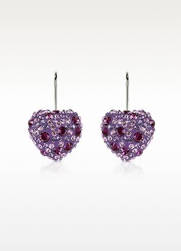Fantasmania - Crystal Heart Earrings - Gisèle St.Moritz