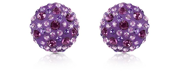 Fantasmania - Crystal Button Earrings - Gisèle St.Moritz