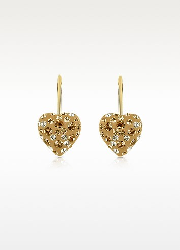 Fantasmania - Small Crystal Heart Earrings - Gisèle St.Moritz