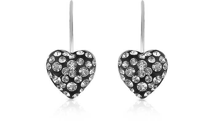 Fantasmania - Small Crystal Heart Earrings - Gisèle St.Moritz