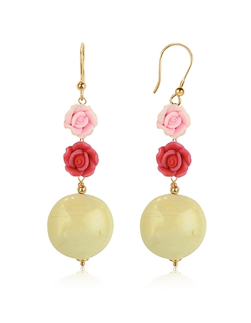 House of Murano - Rose Murano Glass Drop Earrings
