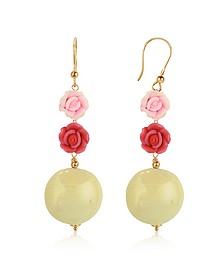 Rose Murano Glass Drop Earrings - House of Murano