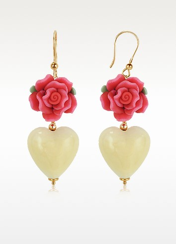 Heart Murano Glass Drop Earrings - House of Murano