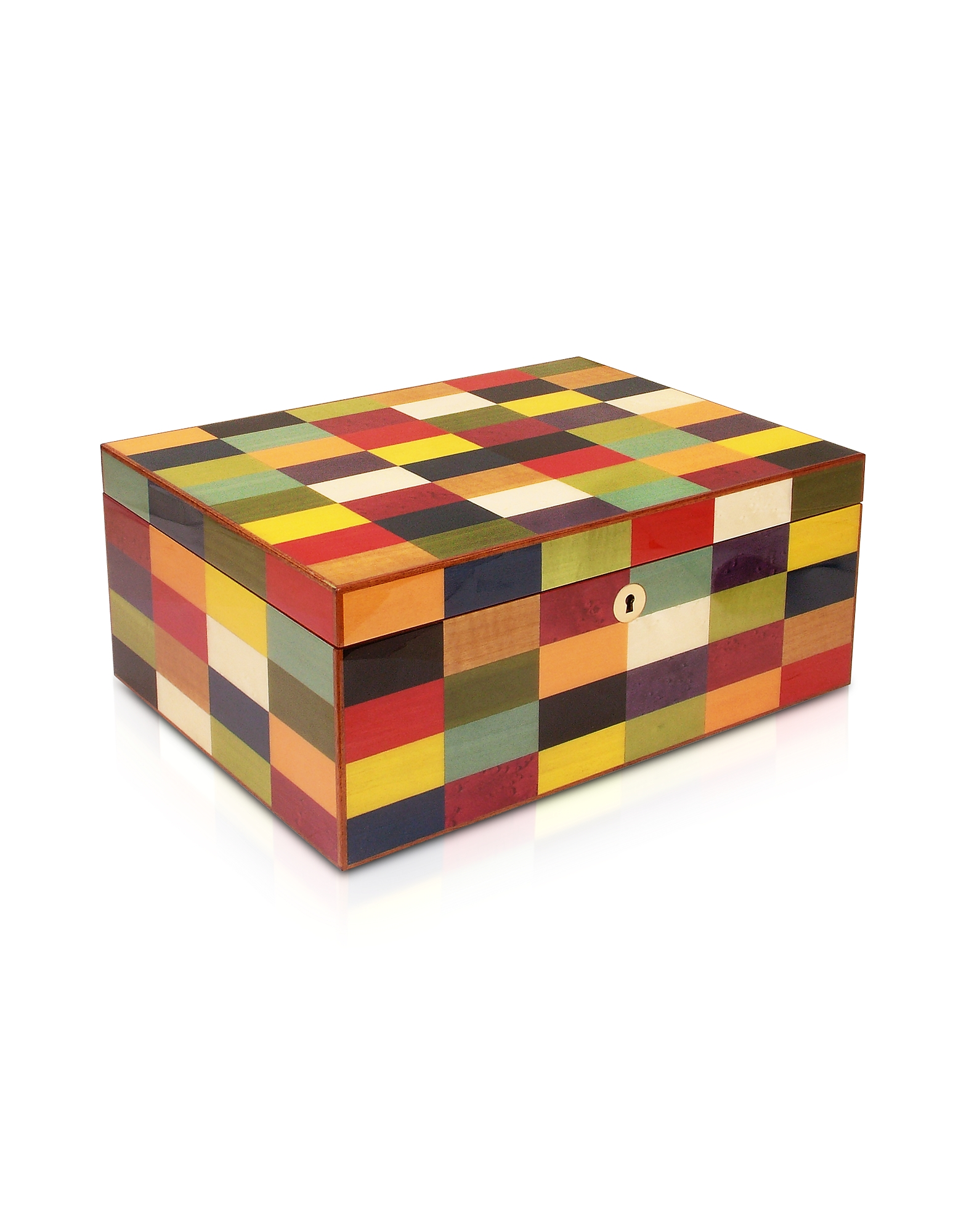 Forzieri Jewelry Boxes, Multicolor Arlecchino Inlaid Wood Game Box