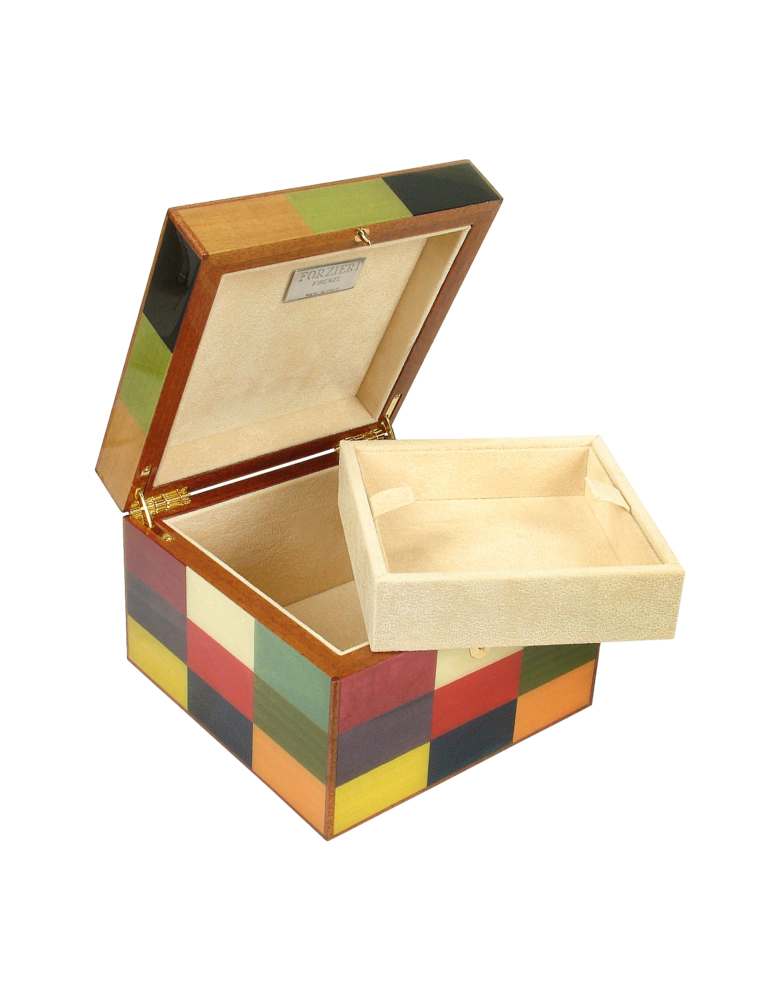 Multicolor Arlecchino Inlaid Wood Jewelry Box от Forzieri.com INT