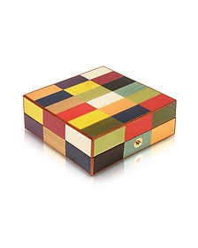 Multicolor Inlaid Wood Jewelry Box - Forzieri