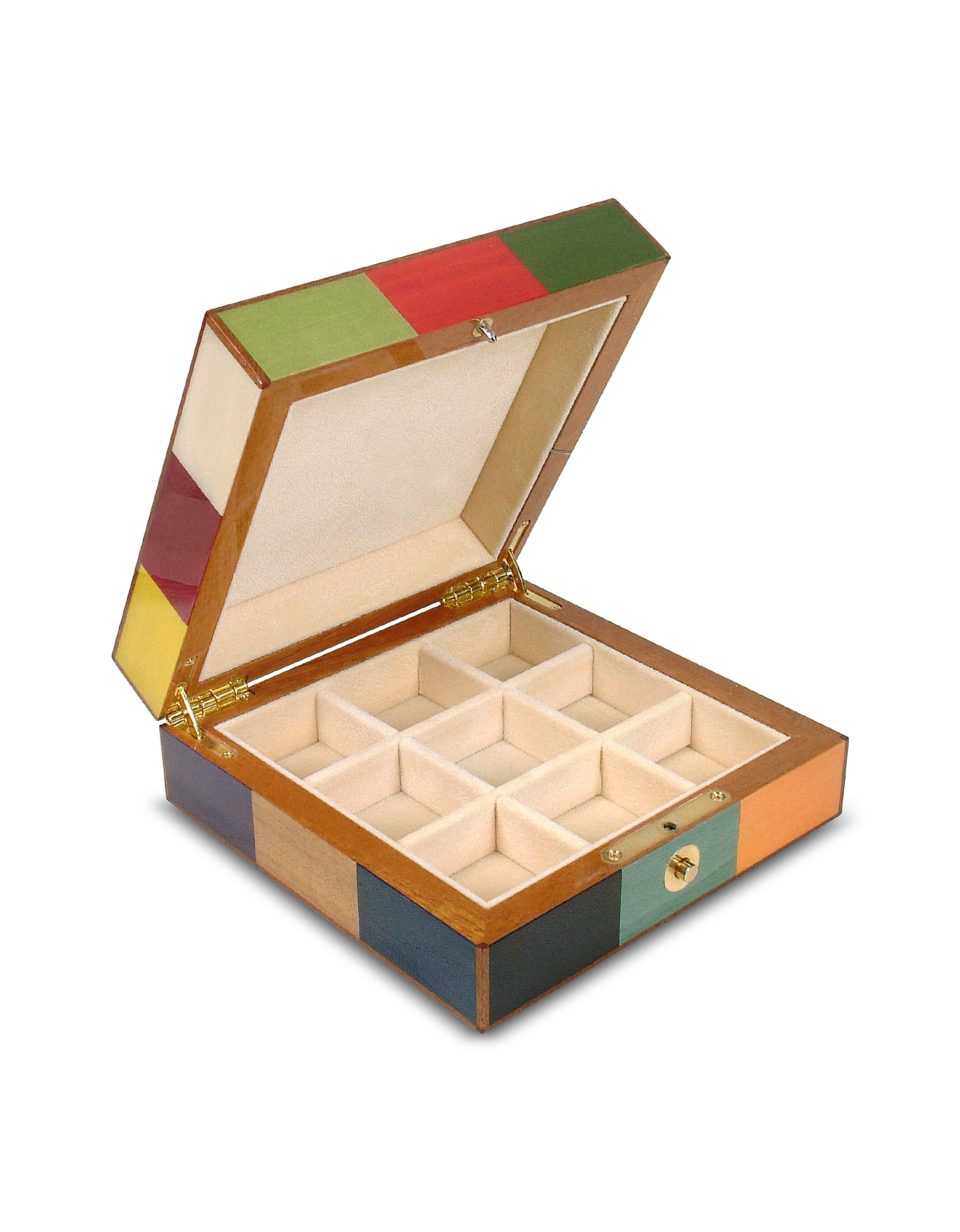 Multicolor Inlaid Wood Jewelry Box от Forzieri.com INT