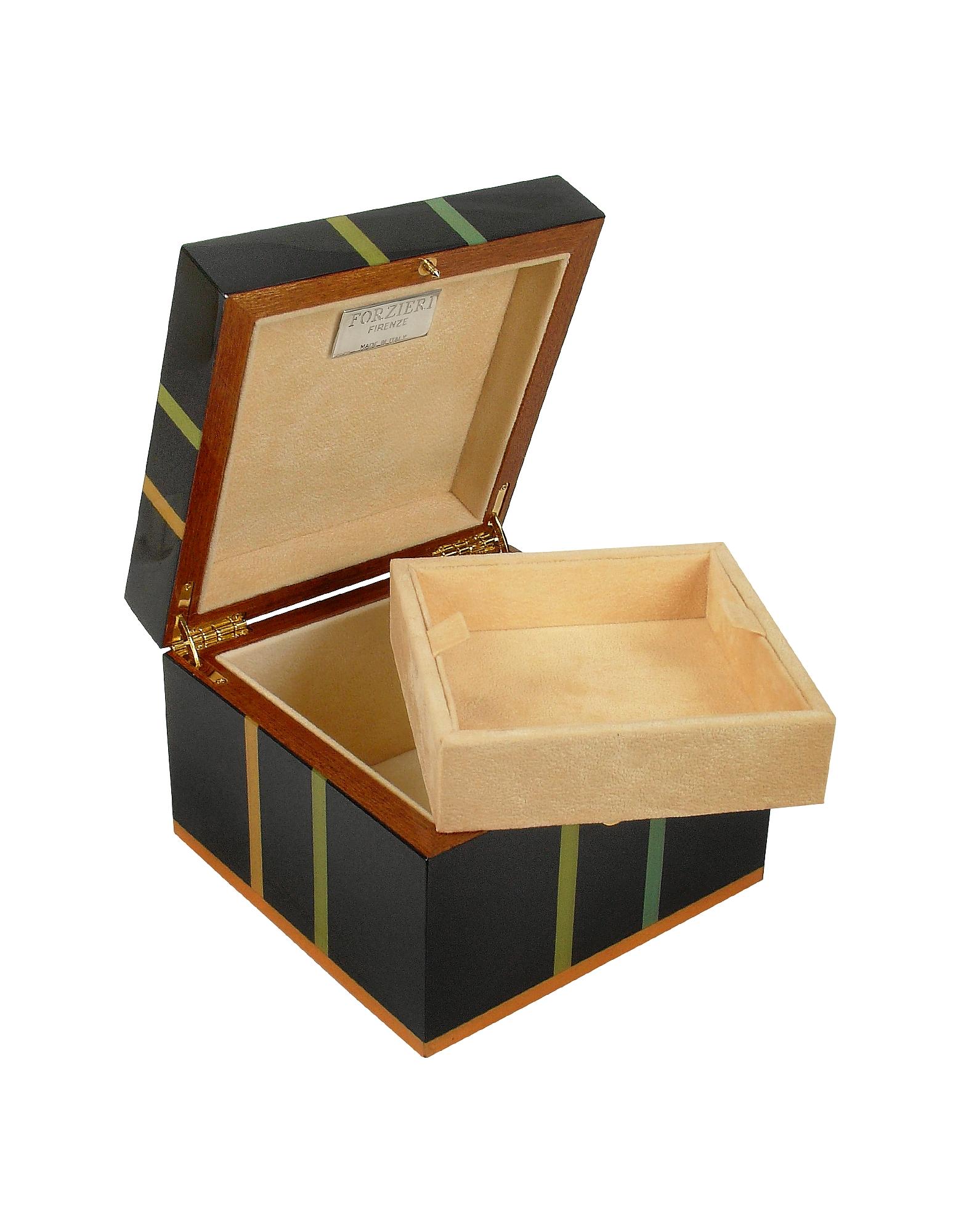 Black Geometric Inlaid Wood Jewelry Box от Forzieri.com INT