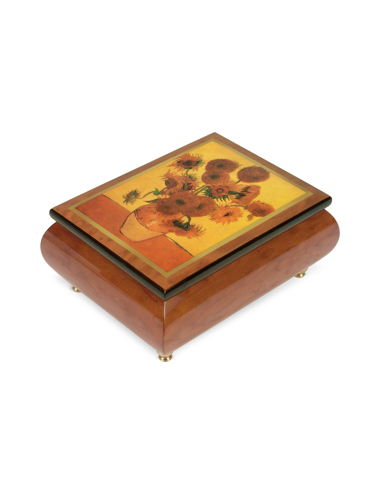 Image of It's a Small World - Sunflowers Musical Jewelry Box