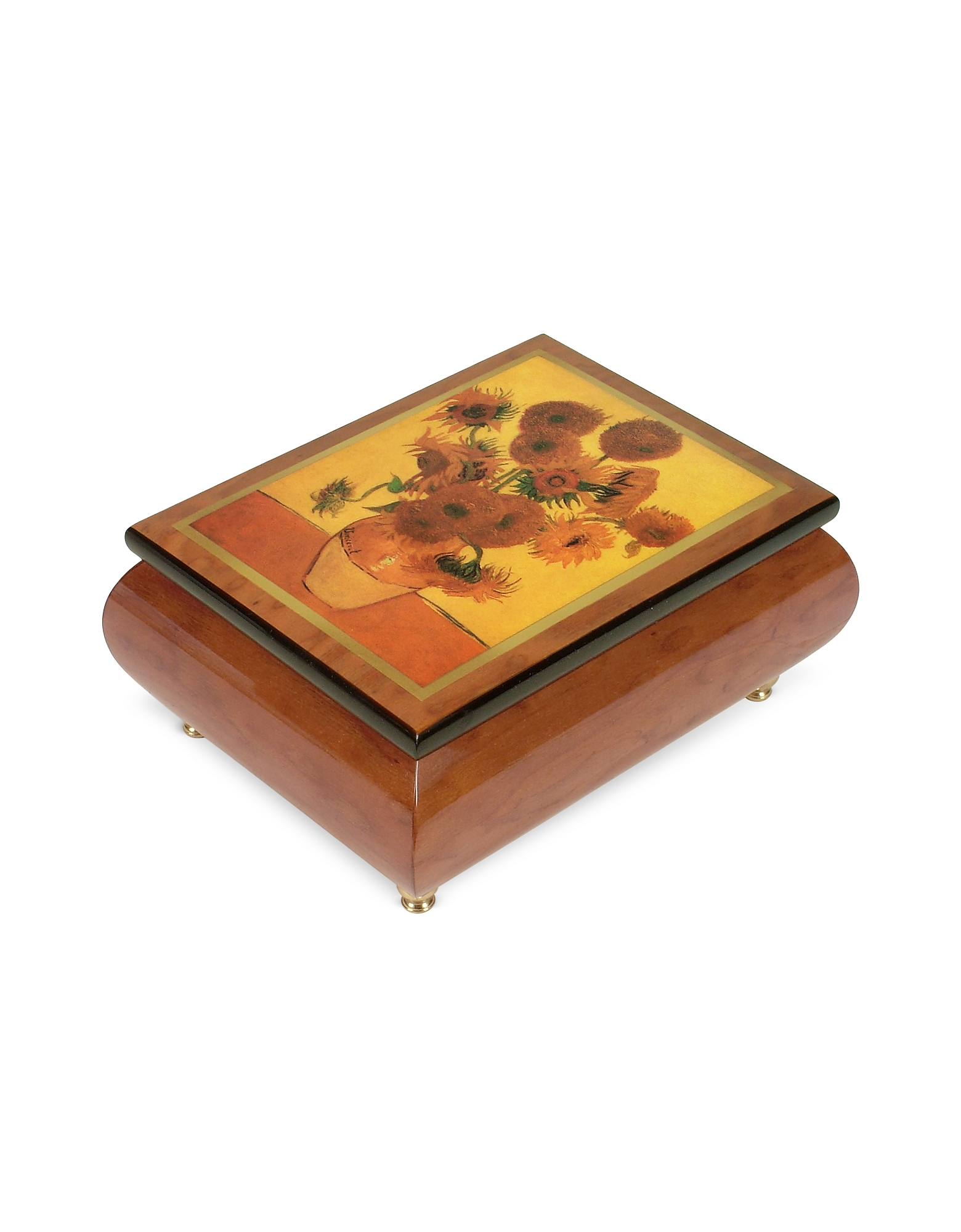 "It's a Small World - ""Sunflowers"" Musical Jewelry Box"