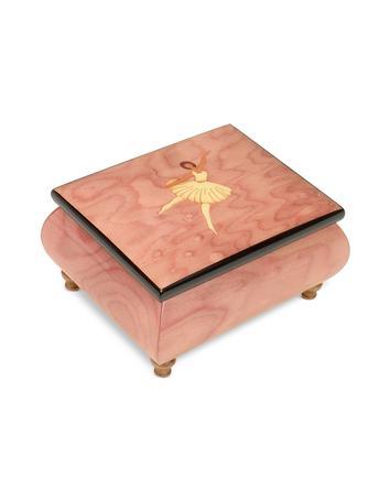 Forzieri O' Sole Mio - Ballerina Inlaid Wood Musical Jewelry Box