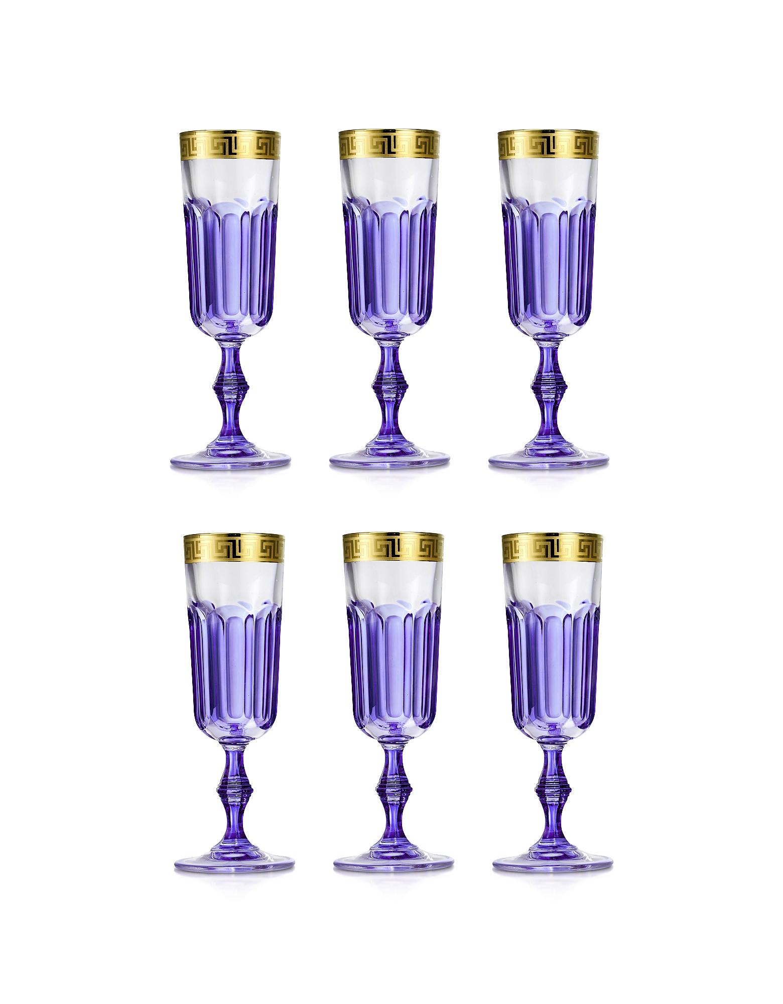 Zecchin Set of 6 Champagne Flutes от Forzieri.com INT