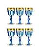 Zecchin Set of 6 Wine Goblets - Forzieri