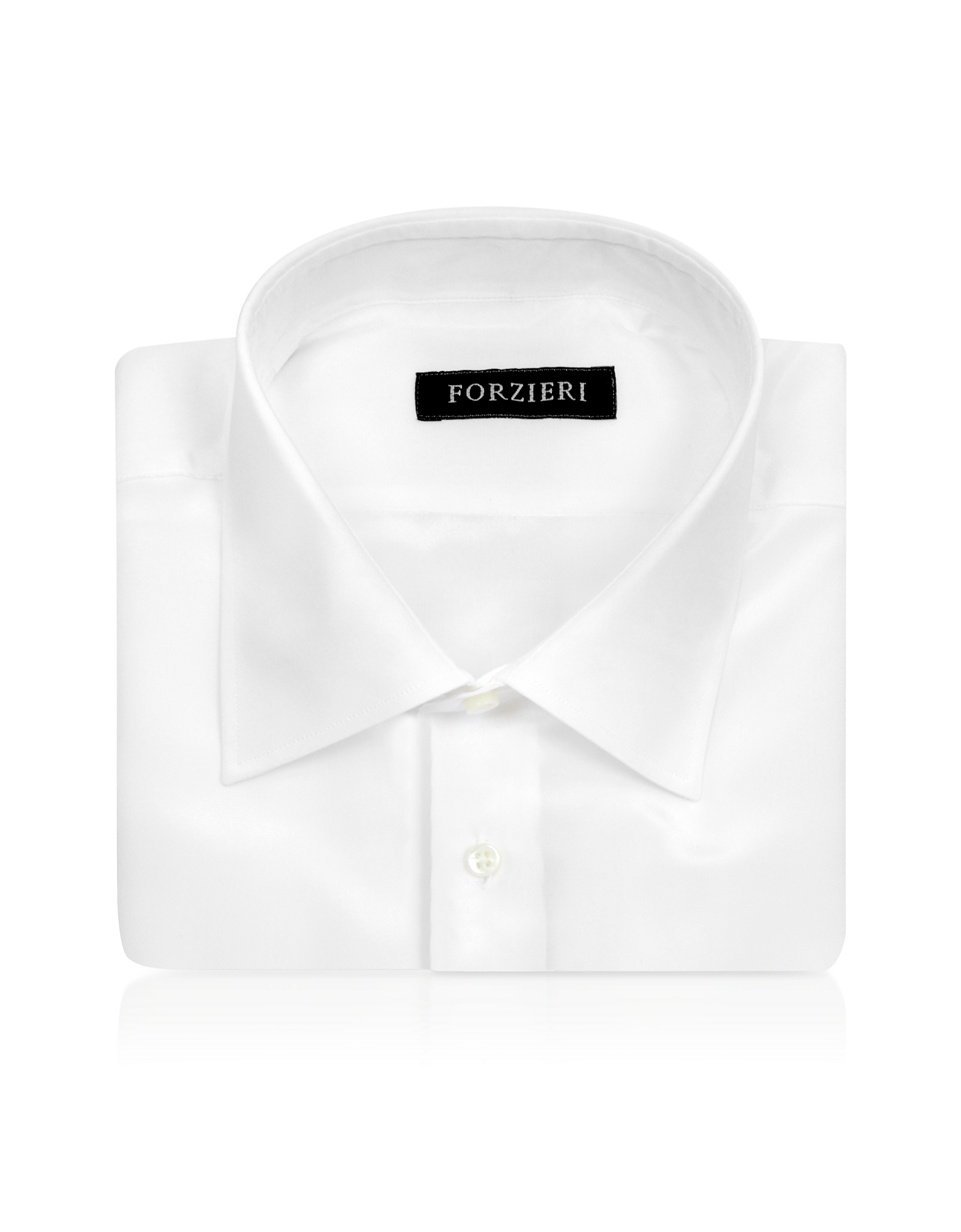 White Pure Silk Dress Shirt