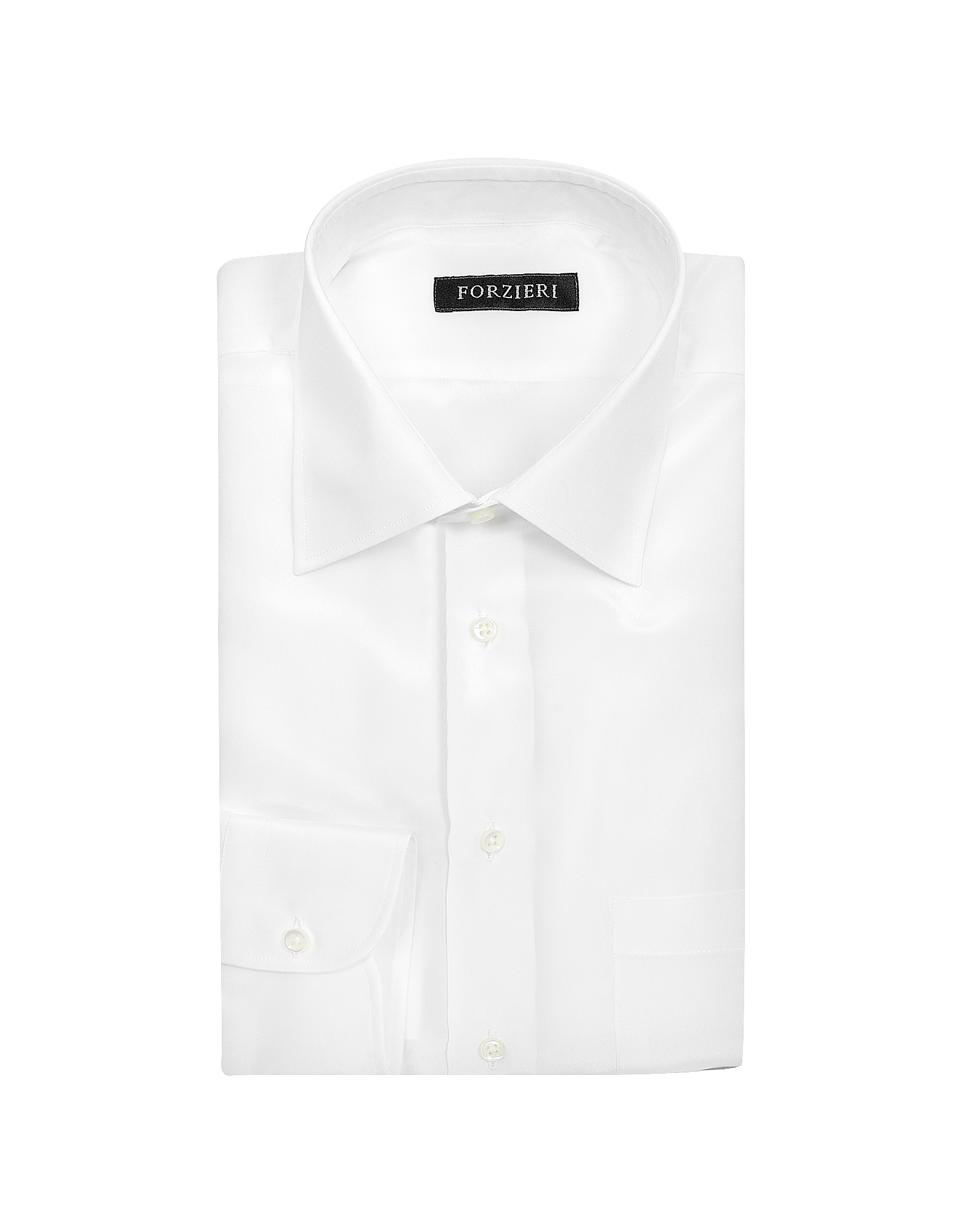 White Pure Silk Dress Shirt от Forzieri.com INT