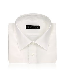 Ivory Pure Silk Dress  Shirt - Forzieri