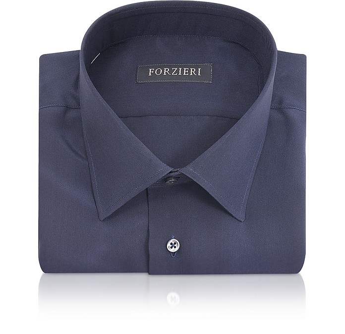 Blue Pure Silk Dress Shirt  - Forzieri