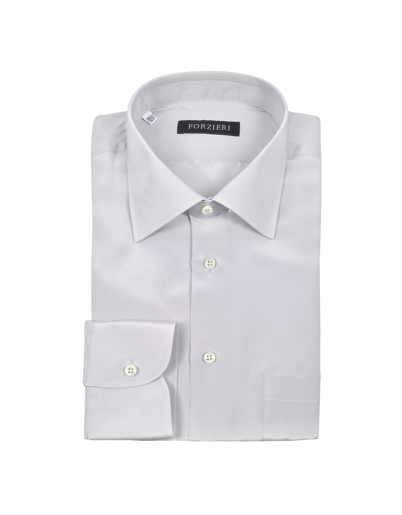 Silver Gray Pure Silk Dress Shirt от Forzieri.com INT
