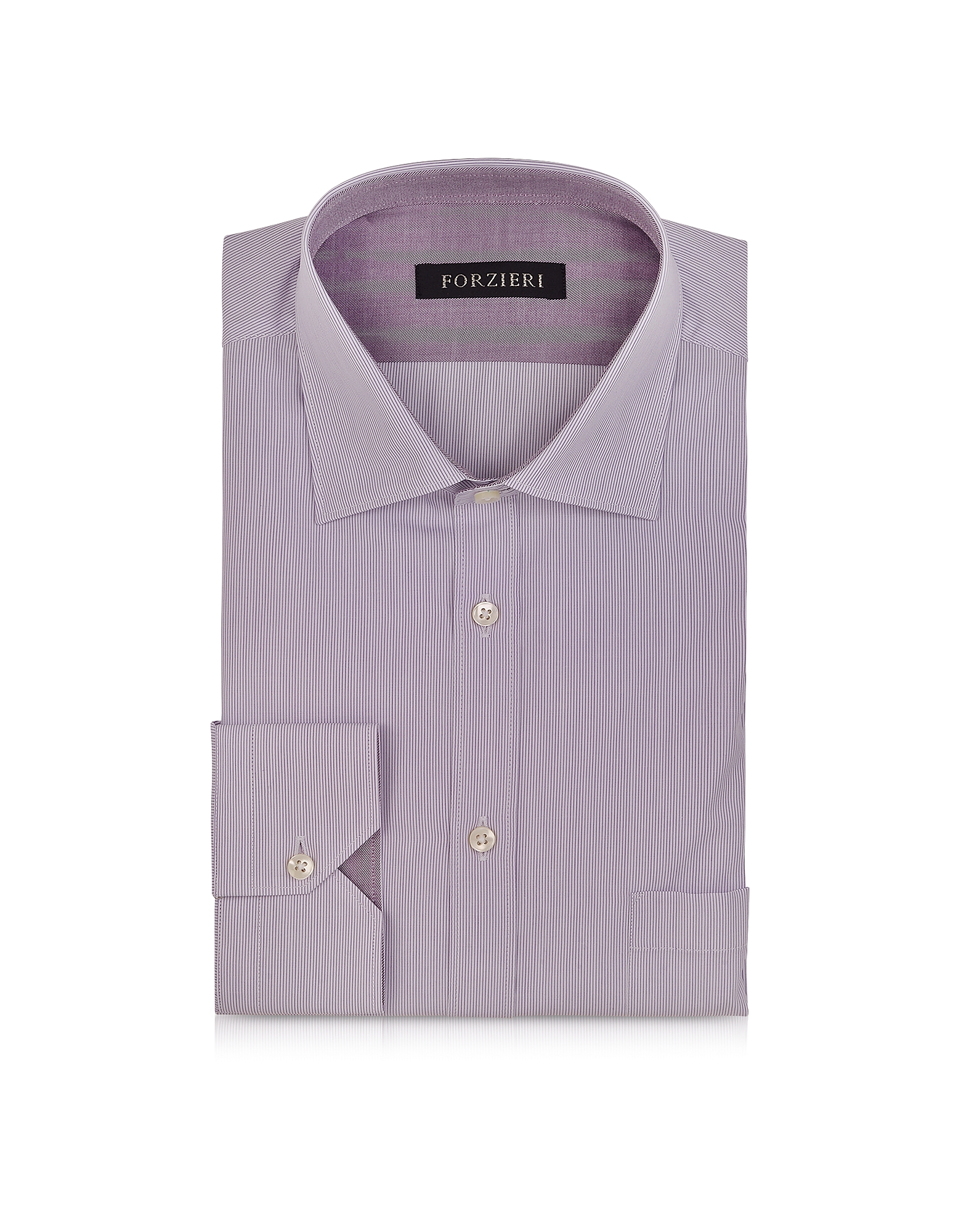 Light Purple Striped Cotton Shirt от Forzieri.com INT