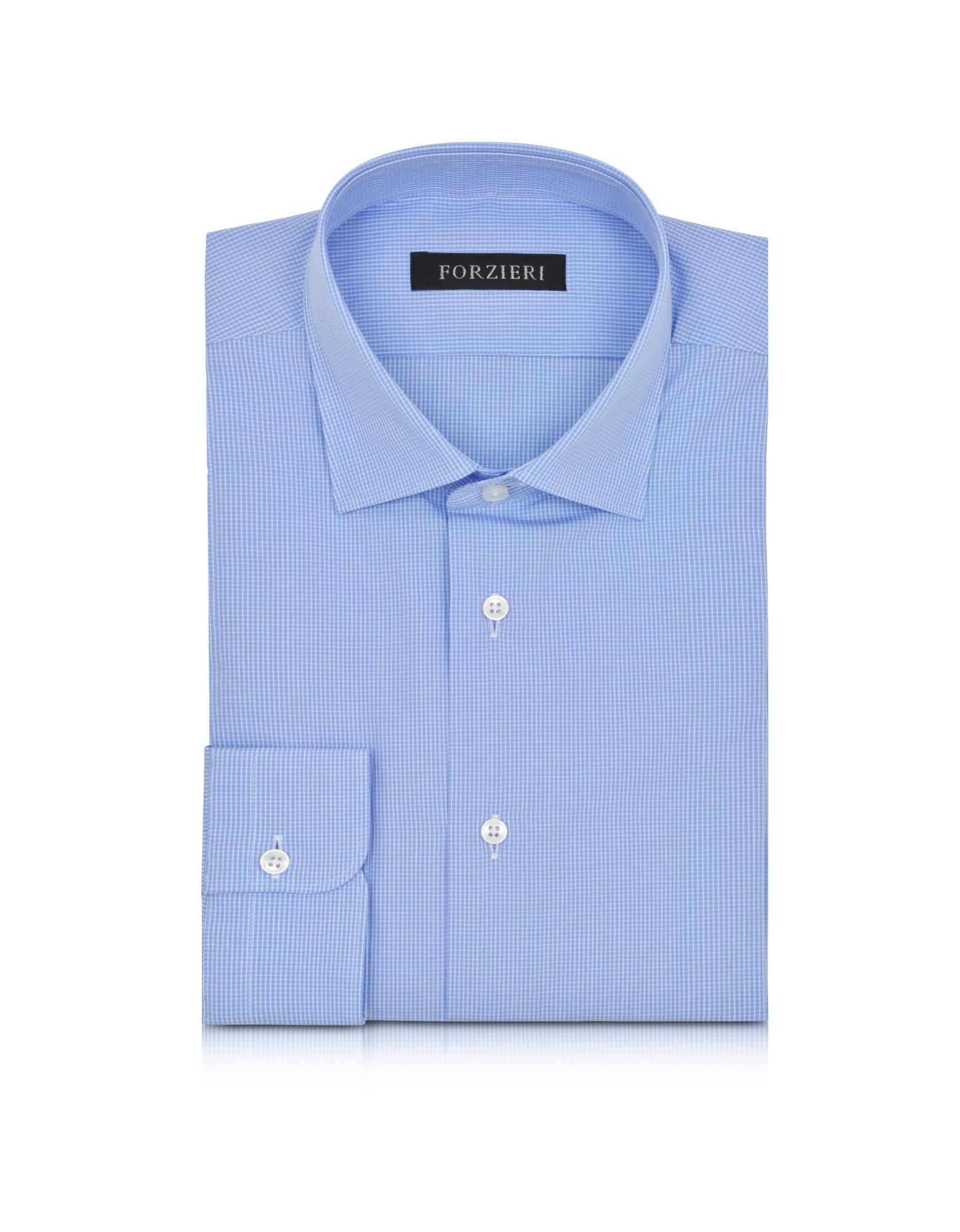 Light Blue Cotton Men's Dress Shirt от Forzieri.com INT