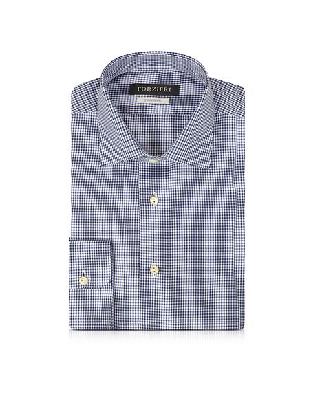 Foto Forzieri Camicia in Cotone No Stiro a Quadretti Blu/Bianco Camicie
