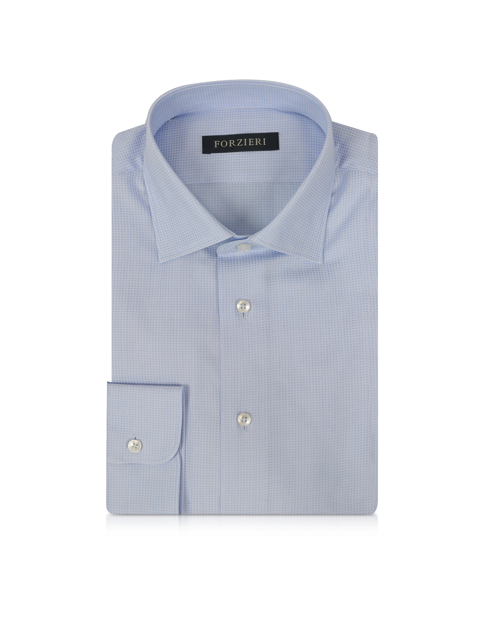 Light Blue Woven Cotton Men's Shirt