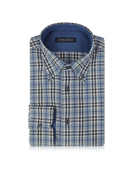 Foto Forzieri Camicia in Cotone a Quadretti Slim Fit Camicie