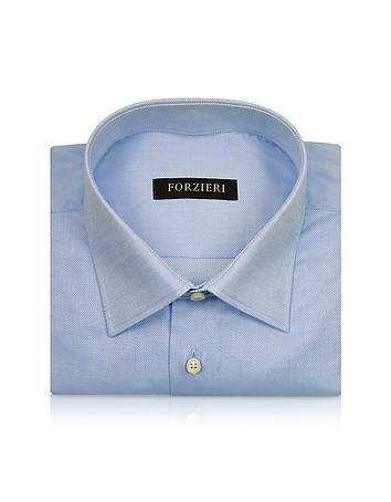 Forzieri Marcus Line - Chemise Oxford en coton bleu clair