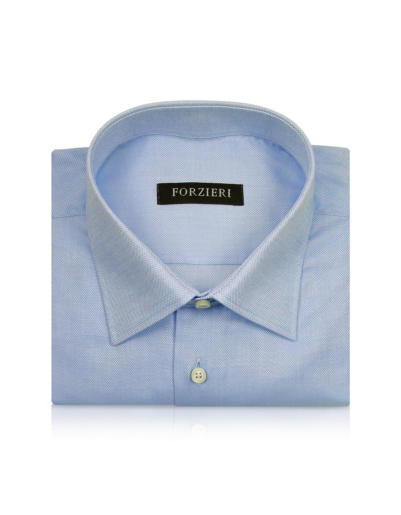 Marcus Line - Solid Light Blue Oxford Cotton Dress Shirt от Forzieri.com INT