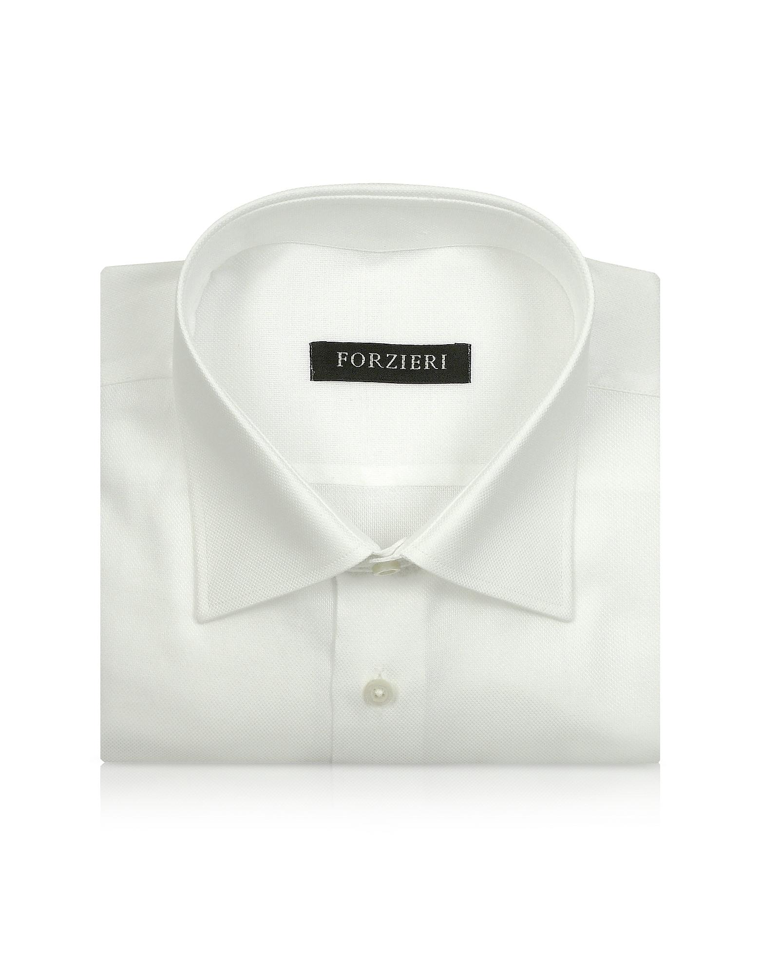 Marcus Line - Однотонная Белая Сорочка из Оксфордского Хлопка