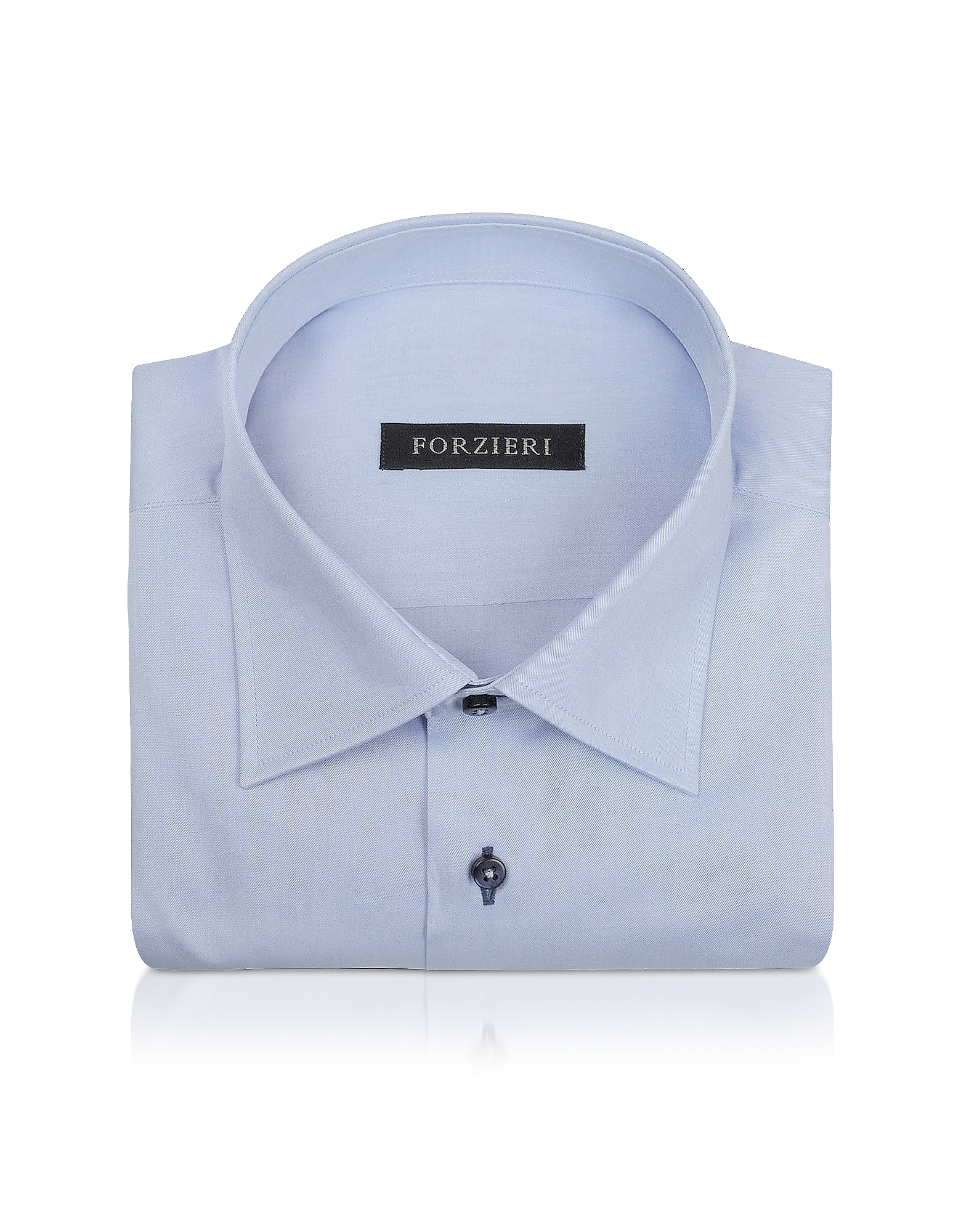 Forzieri Dress Shirts, Blue Twill Dress Shirt