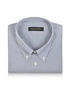 Gray Micro Check Cotton Dress Shirt - Forzieri