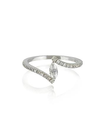 Forzieri - White Gold Eye Shaped Diamond Ring