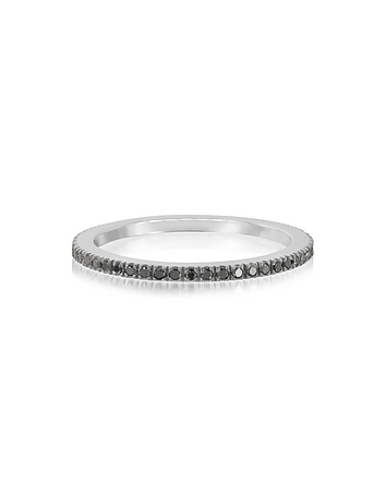 Forzieri - Black Diamond Eternity Band Ring