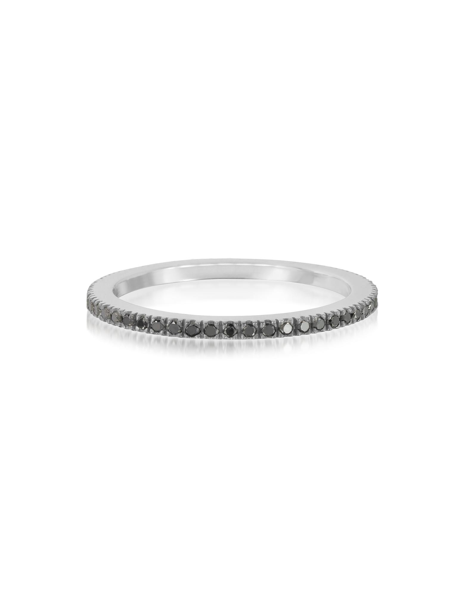 Обручальное Кольцо с Черными Бриллиантами