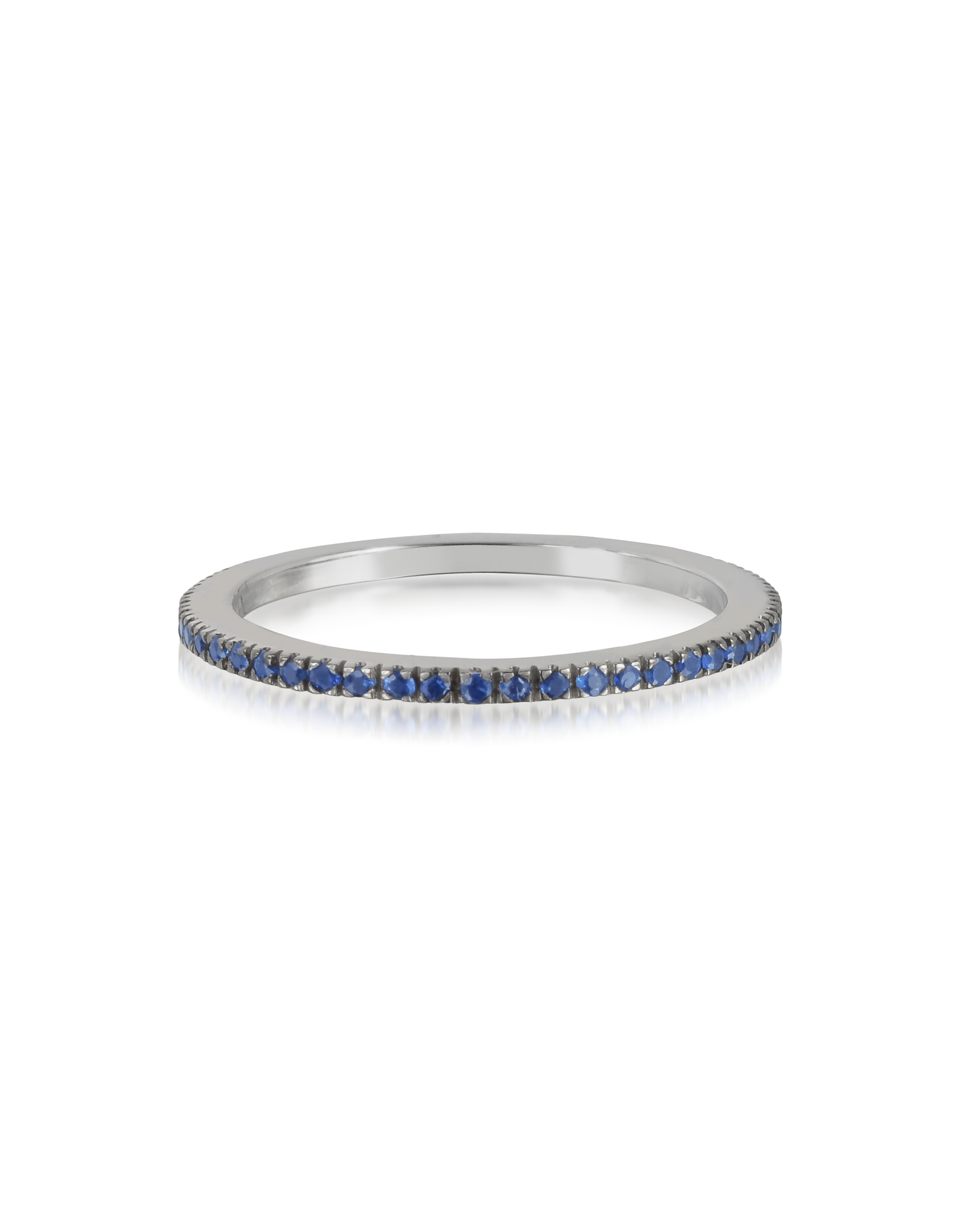 Forzieri Designer Rings, Natural Blue Sapphire Eternity Band Ring