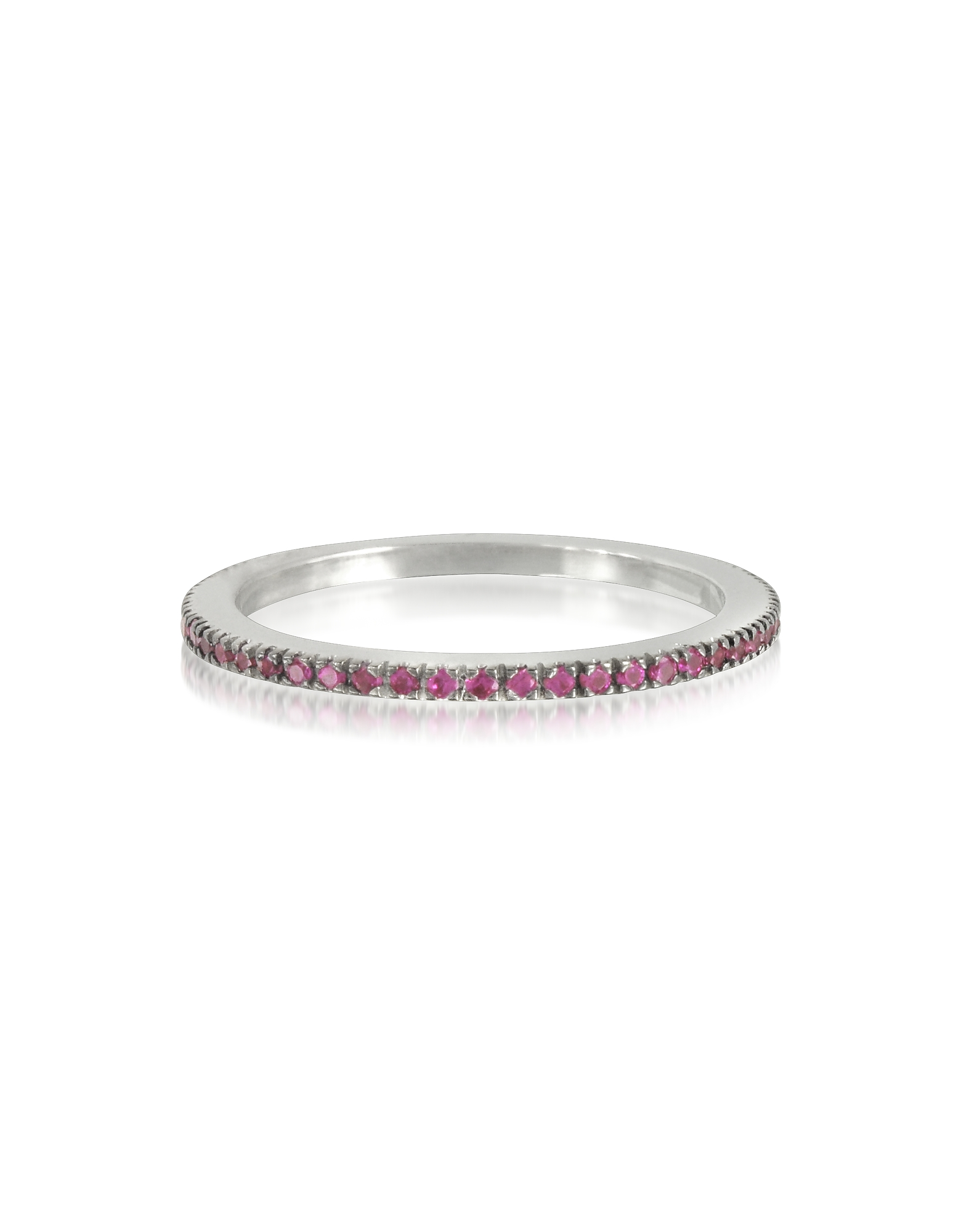Forzieri Rings, Natural Pink Sapphire Eternity Band Ring