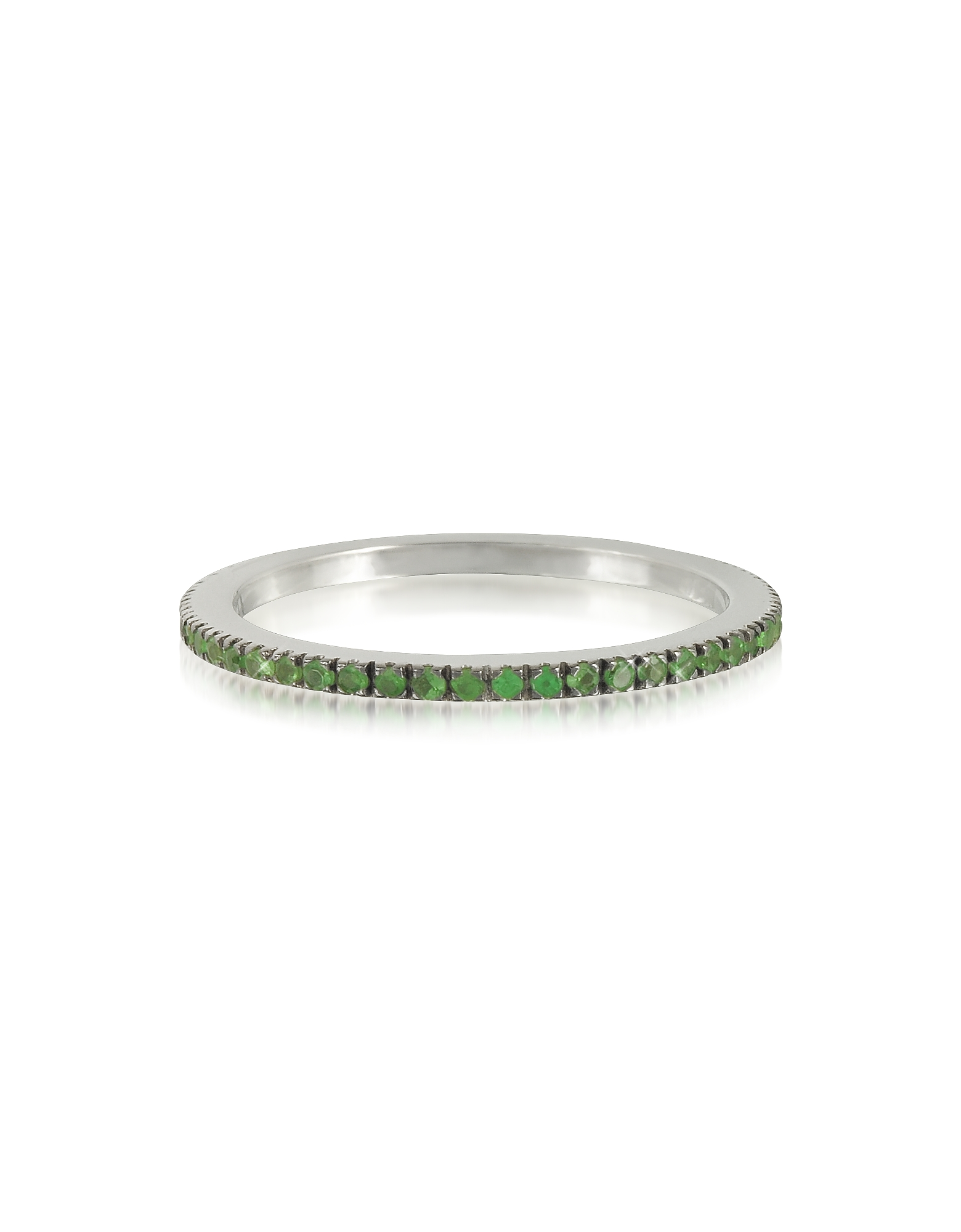 Forzieri Rings, Natural Tsavorites Eternity Band Ring