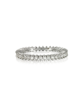 Forzieri - White Gold and Diamonds Eternity Band Ring