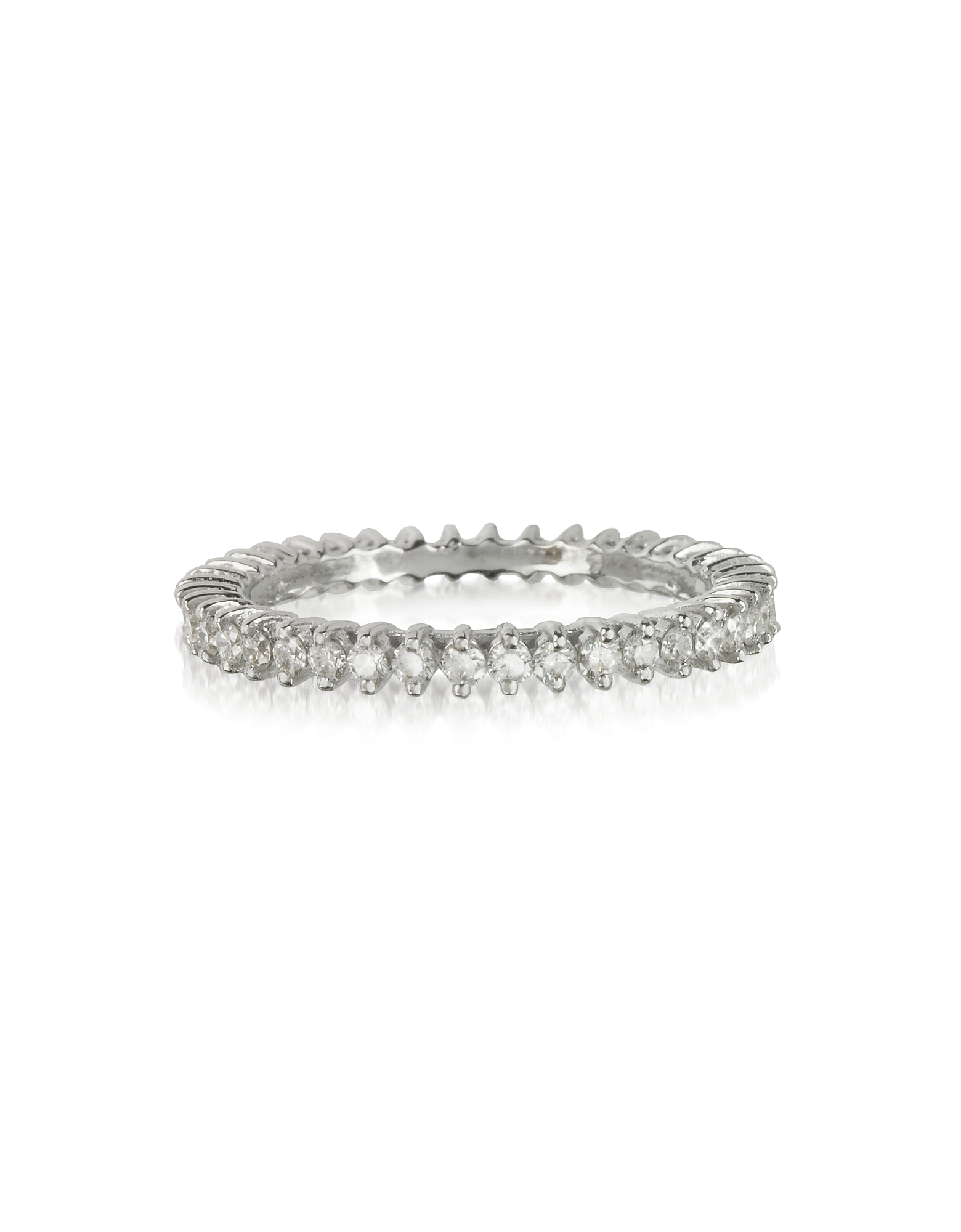 Forzieri Rings, White Gold and Diamonds Eternity Band Ring