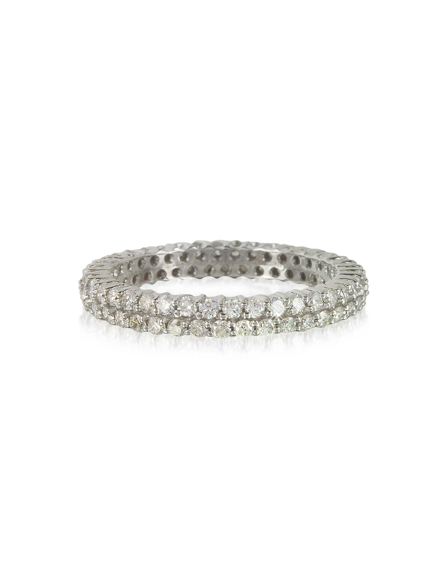 Forzieri Rings, Diamonds Eternity Double Band Ring
