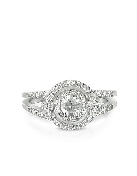 Foto Forzieri Anello in Oro Bianco 18k e Diamanti 0.58 t Anelli