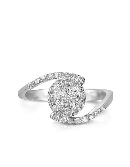 Foto Forzieri Anello in Oro Bianco 18k e Pavé di Diamanti 0.35 ct Anelli