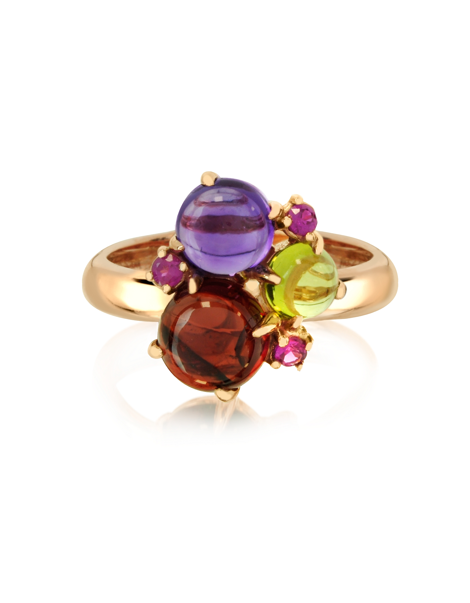 Mia & Beverly Rings, Gemstones 18K Rose Gold Ring