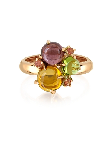 Mia & Beverly - Gemstones 18K Rose Gold Ring