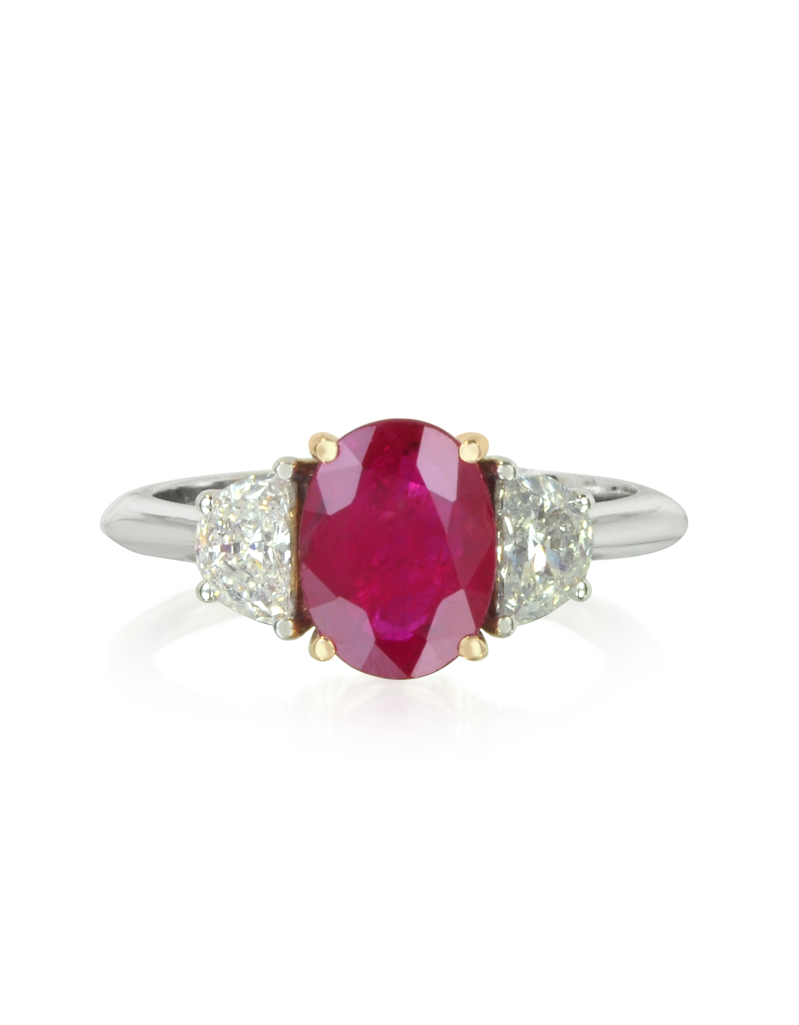 Forzieri Rings, Ruby and Diamond Gold Ring